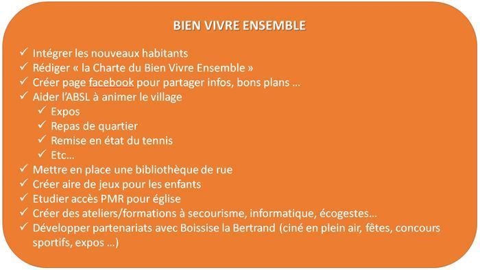 Liste pour Boissettes, programme 04
